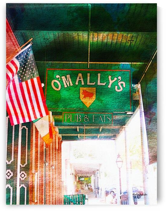 OMalleys on the Old Sacramento Waterfront Boardwalk by Aurelia Schanzenbacher Sisters Fine Arts