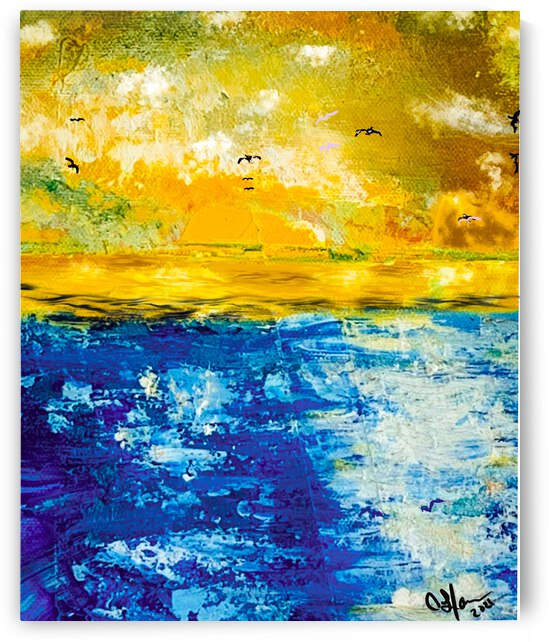Seascapes Abstract  by Cynthia L Harris