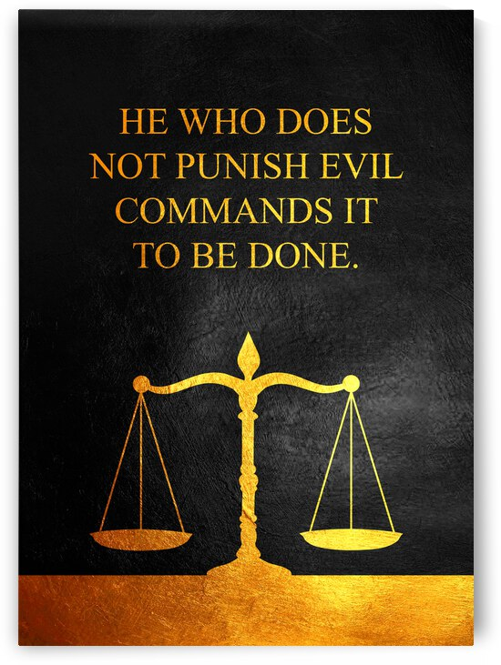 Punish Evil Motivational Wall Art by ABConcepts