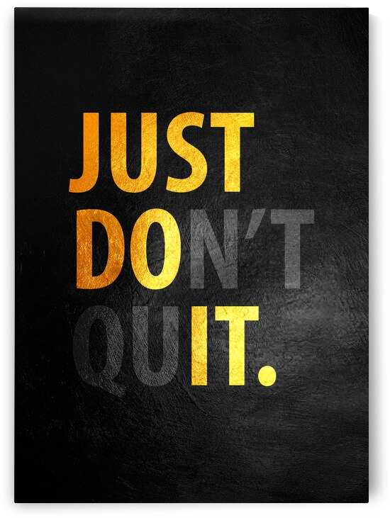 Just Do It Motivational Wall Art by ABConcepts