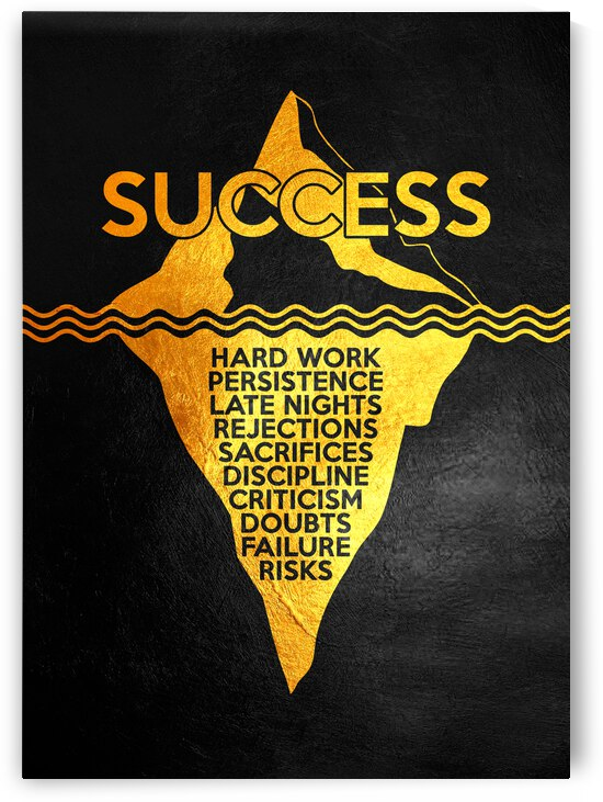 Success Iceberg Motivational Wall Art by ABConcepts