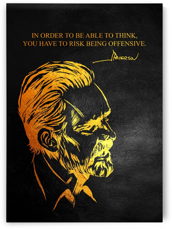 Risk Being Offensive Jordan Peterson Motivational Wall Art by ABConcepts