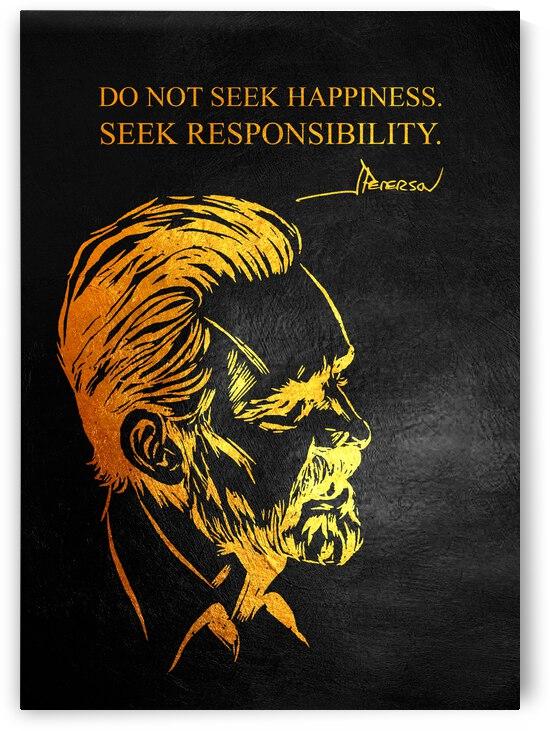 Seek Responsibility Jordan Peterson Motivational Wall Art by ABConcepts