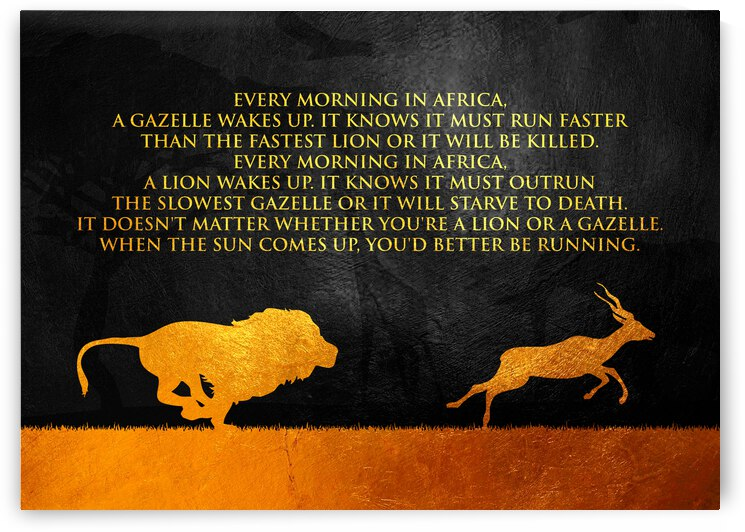 Lion and Gazelle Motivational Wall Art by ABConcepts