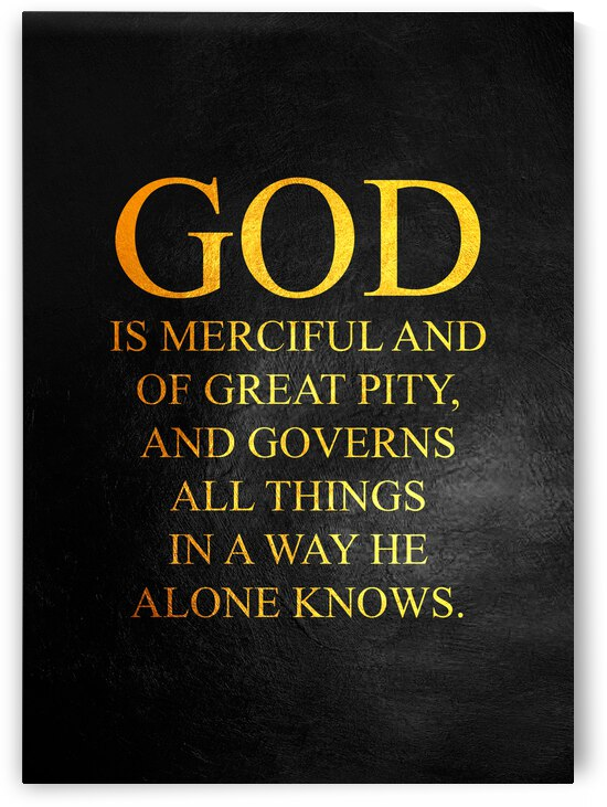 God Is Merciful Motivational Wall Art by ABConcepts