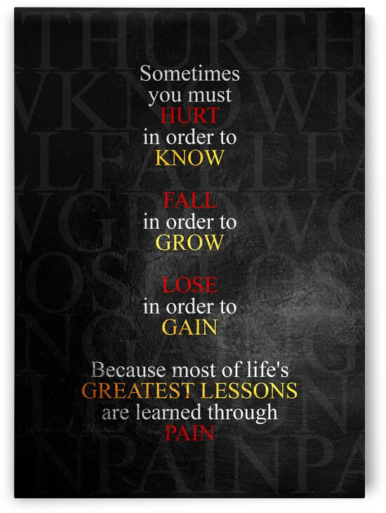 Learned Through Pain Motivational Wall Art by ABConcepts