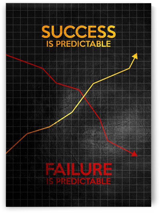 Failure and Success Are Predictable Motivational Wall Art by ABConcepts