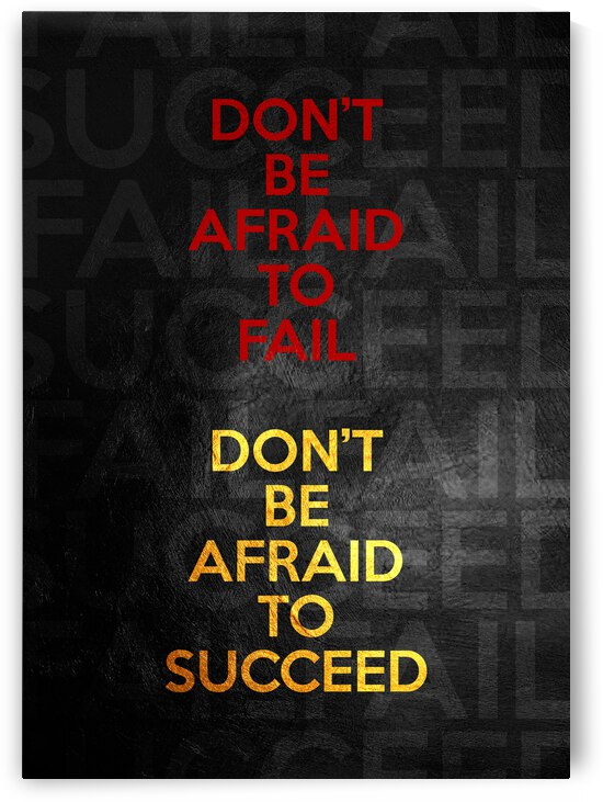 Failure and Success Motivational Wall Art by ABConcepts