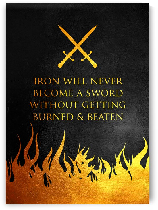 Burned and Beaten Motivational Wall Art by ABConcepts