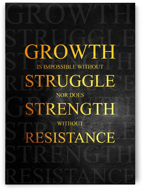 Growth Motivational Wall Art by ABConcepts