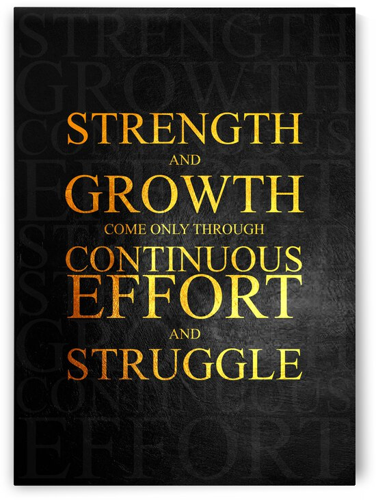 Strength and Growth Motivational Wall Art by ABConcepts