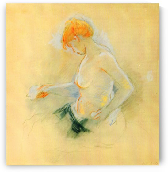 Young woman, Drying by Morisot by Morisot