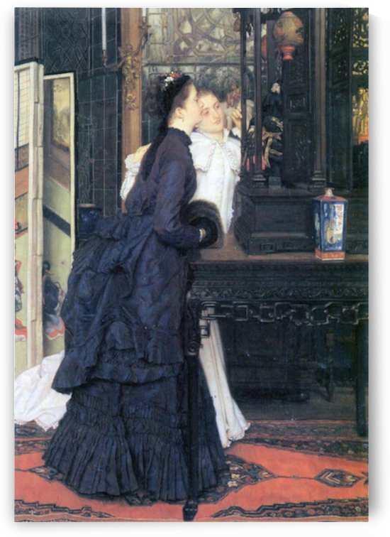 Young women with Japanese goods by Tissot by Tissot