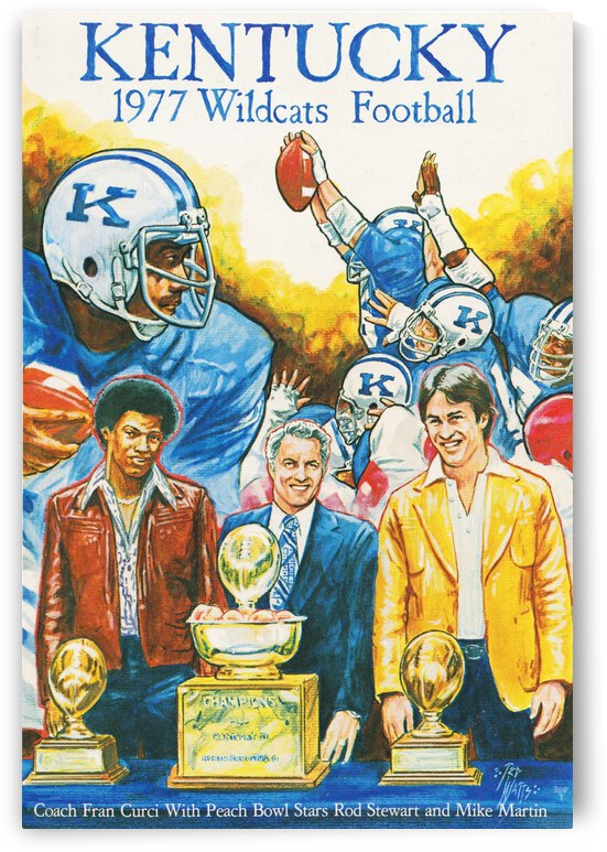1977 Kentucky Football Poster by Row One Brand