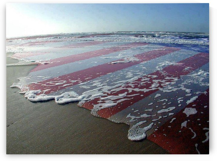 american flag overlay waves by MonicaVee
