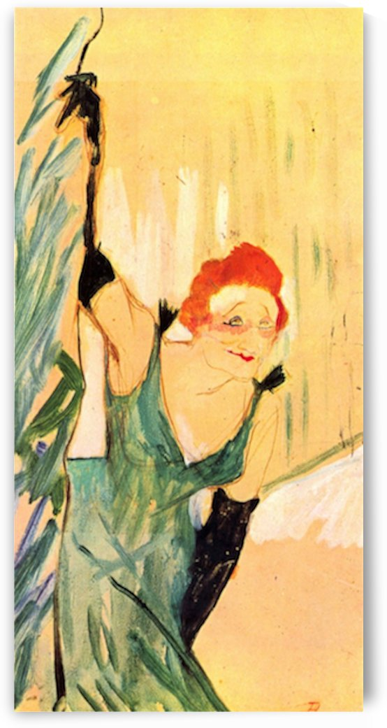 Yvette Guilbert greets the Audience by Toulouse-Lautrec by Toulouse-Lautrec