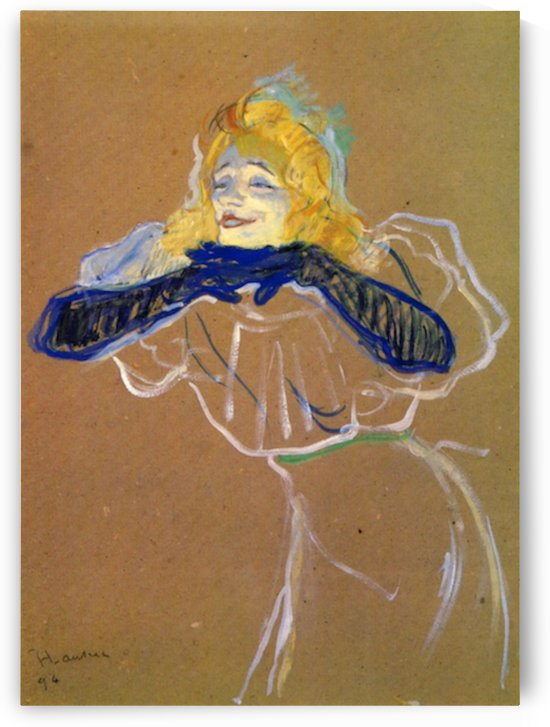 Yvette Guilbert sings by Toulouse-Lautrec by Toulouse-Lautrec