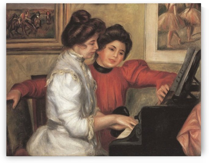 Yvonne and Christine Lerolle at the piano by Renoir by Renoir
