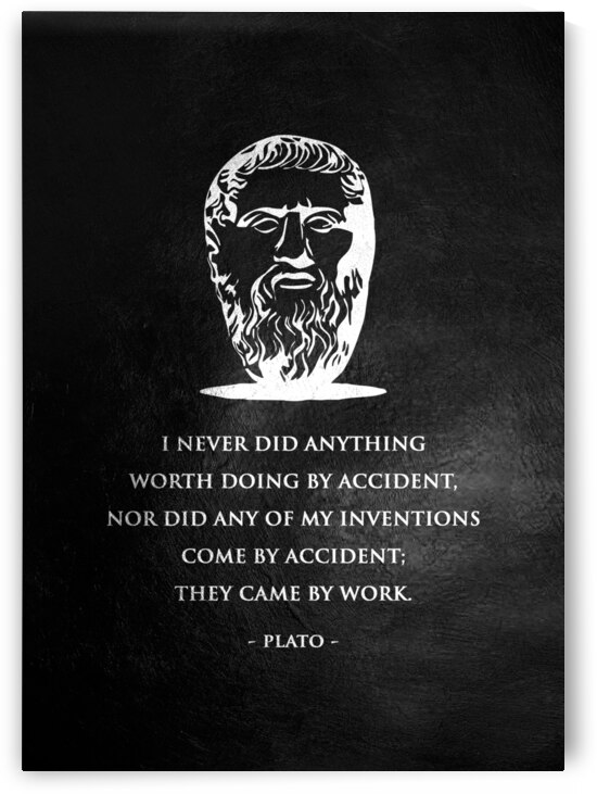 Plato Work Motivational Wall Art by ABConcepts