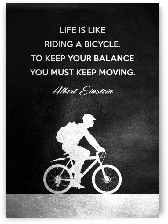 Albert Einstein Balance Bicycle Motivational Wall Art by ABConcepts