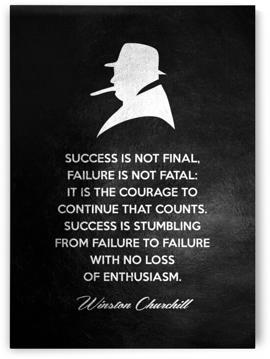 Winston Churchill Motivational Wall Art by ABConcepts