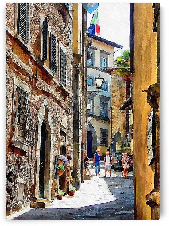 Maze of Alleyways Cortona by Dorothy Berry-Lound
