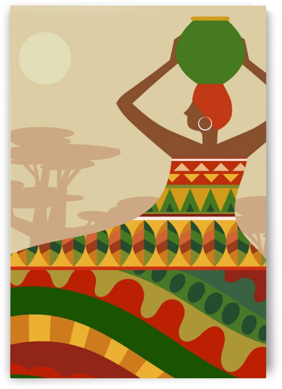 African Abstract Background by Pagoda
