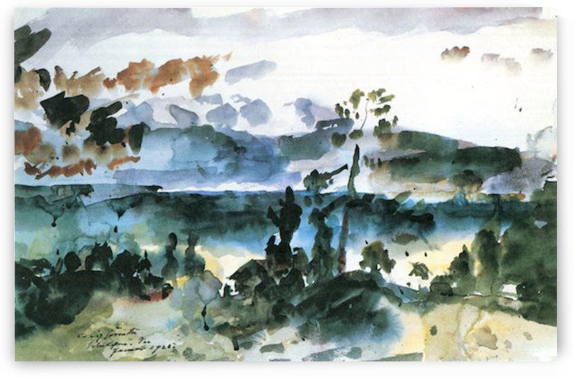 Walchensee -3- by Lovis Corinth by Lovis Corinth