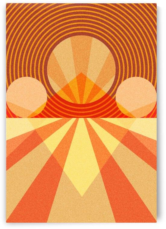 Retro Abstract Sunrise by Pagoda
