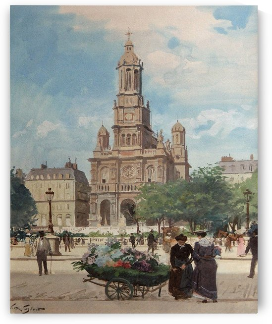 Flower Market, Place De La Trinite by Victor Gilbert