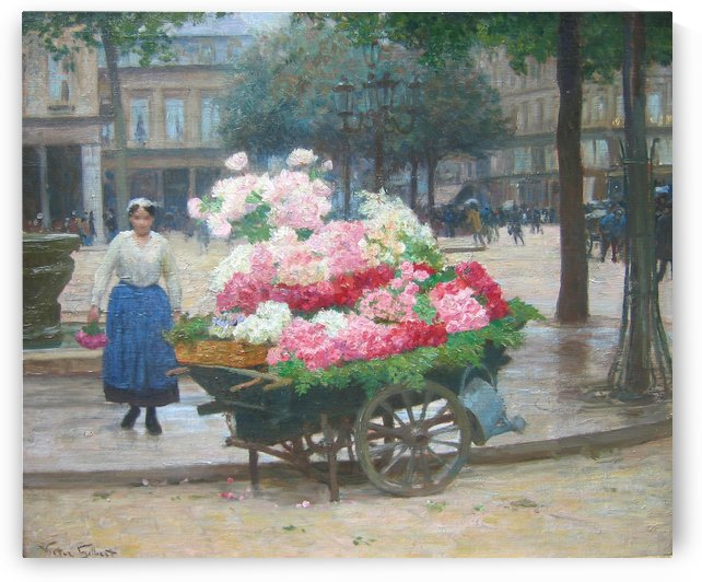 The Flower Seller by Victor Gilbert