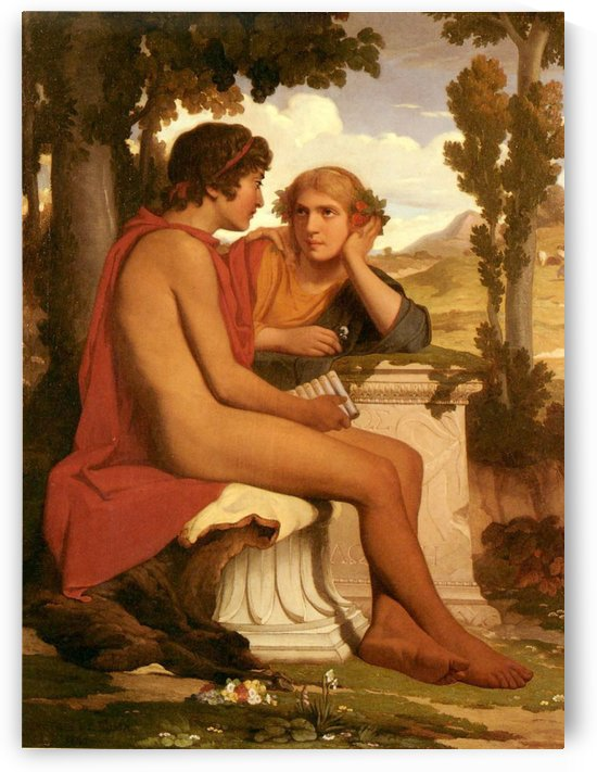Daphnis Et Chloe by Dominique Louis Ferreol Papety