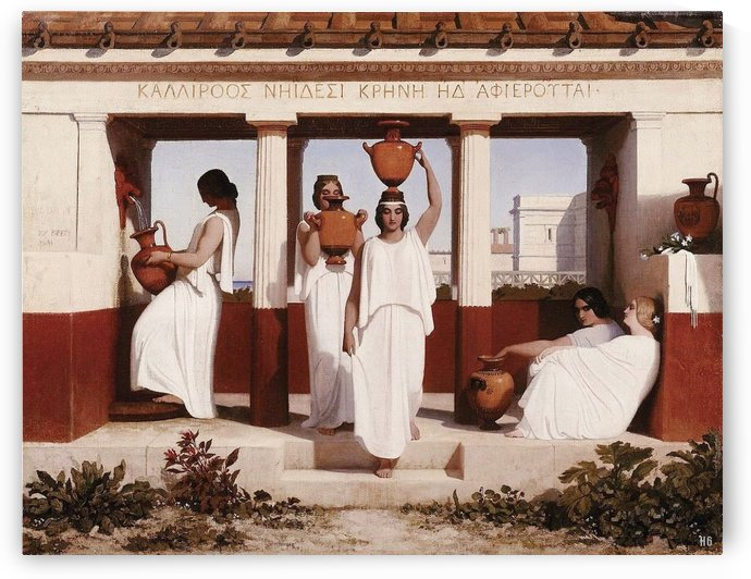 Greek Women at the Fountain by Dominique Louis Ferreol Papety