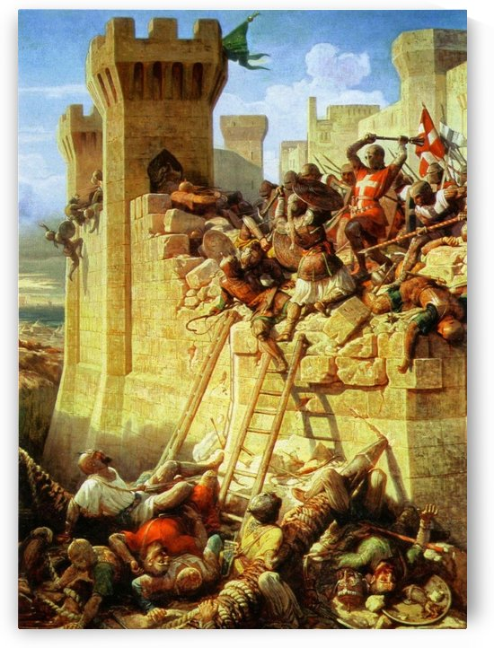The Siege of Acre by Dominique Louis Ferreol Papety
