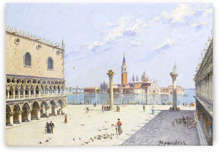 La Piazzetta with Palazzo Ducale in Venezia by Antonietta Brandeis