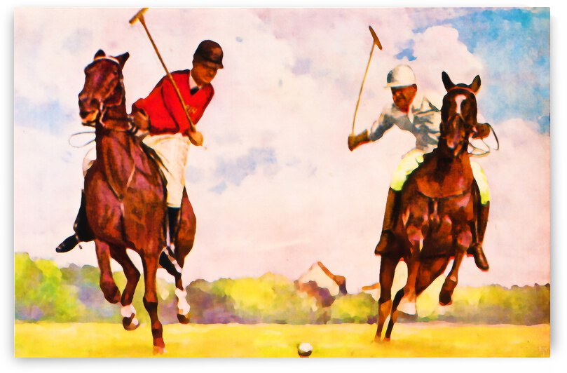 1933 Vintage Polo Art by Row One Brand