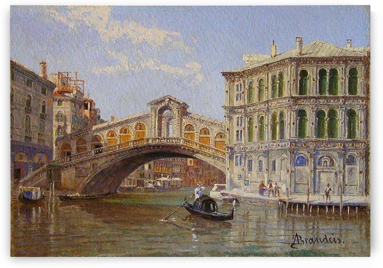The Rialto Bridge - Venice by Antonietta Brandeis