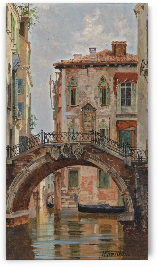 A Bridge over a Venetian Canal by Antonietta Brandeis
