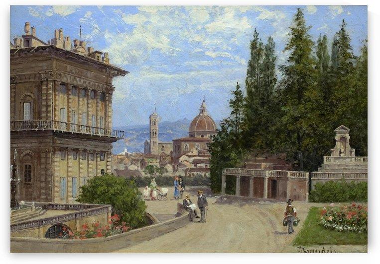 Gardens in Florence by Antonietta Brandeis