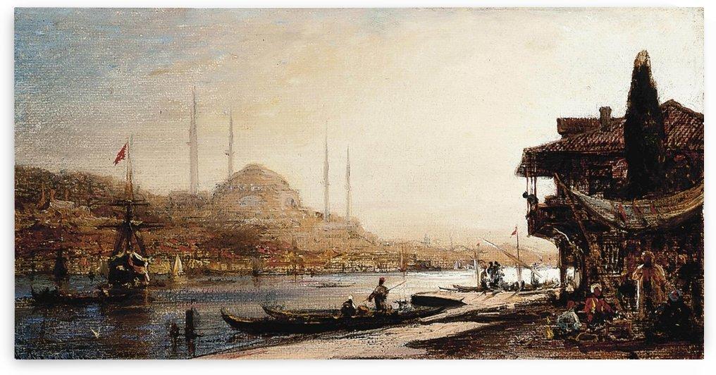 A view of Hagia Sophia across the Golden Horn, Istanbul by Antonietta Brandeis