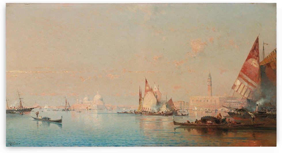 A view across the Lagoon towards the Grand Canal by Antonietta Brandeis