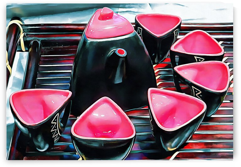 Japanese Tea Set Pink by Dorothy Berry-Lound