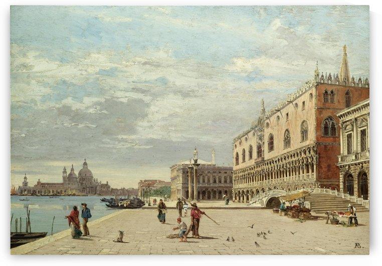 The Molo, Venice by Antonietta Brandeis