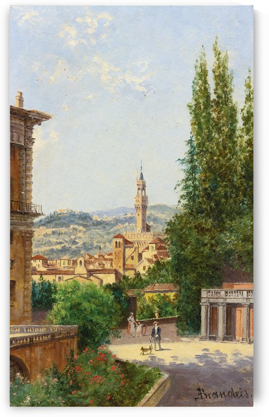 Italian road among buildings by Antonietta Brandeis