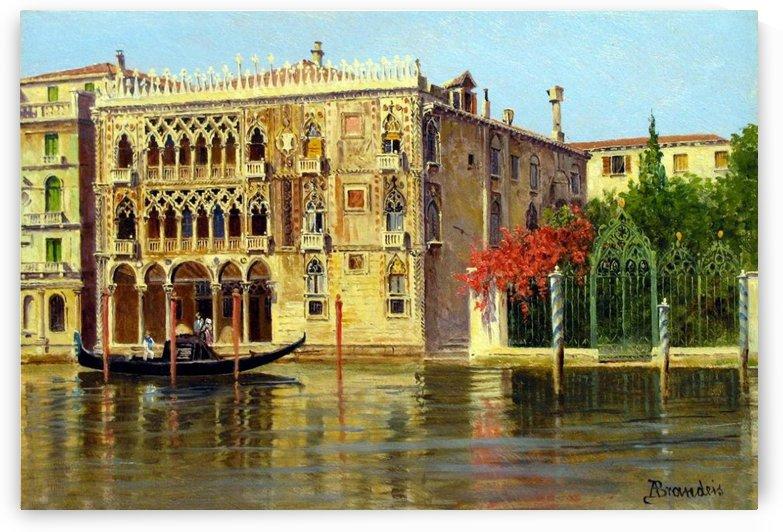 Along the Grand Canal in Venice by Antonietta Brandeis