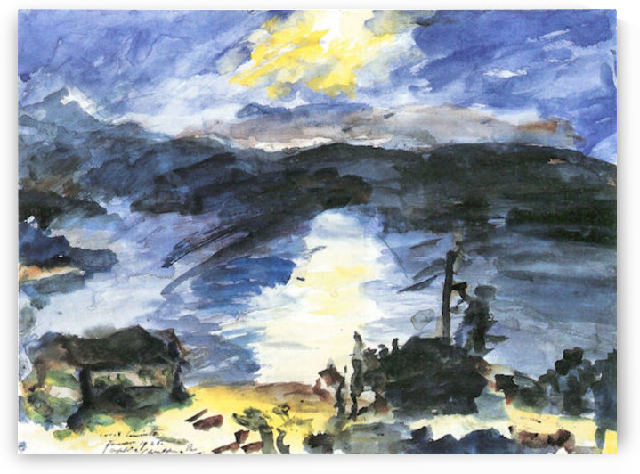 Walchensee -4- by Lovis Corinth by Lovis Corinth