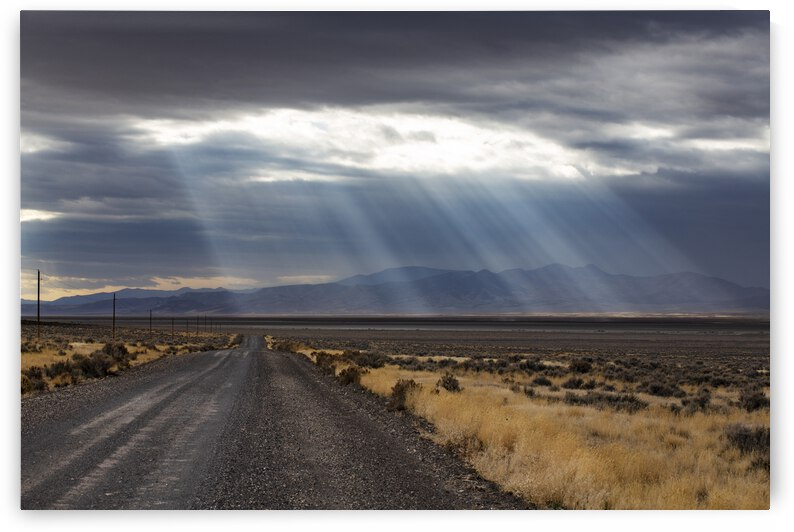 Sunrays Over Rural Nevada by Evan Petty Photography