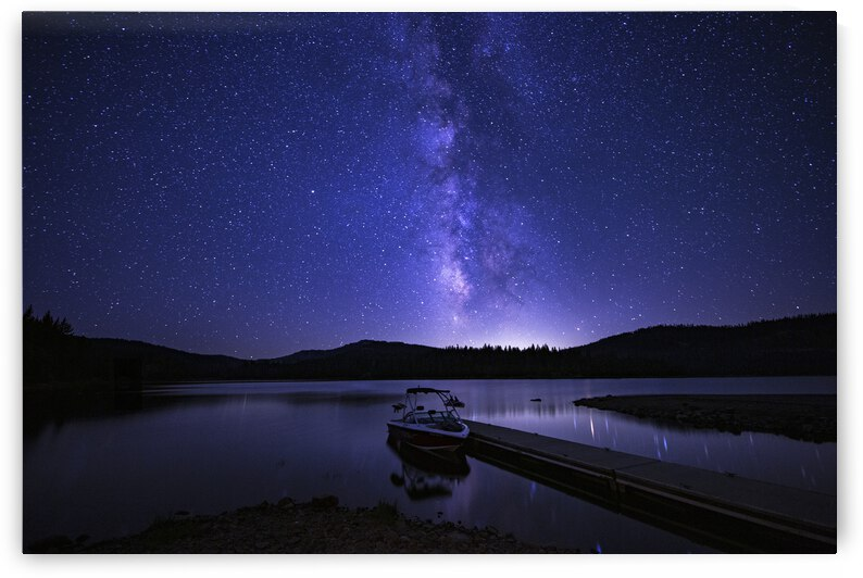 Boat Under the Milky Way by Evan Petty Photography