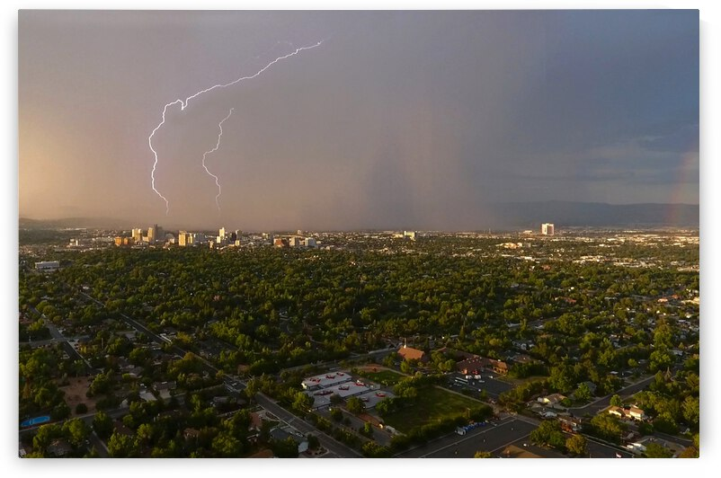Lightning Over Reno Nevada by Evan Petty Photography