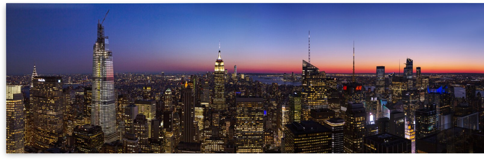 NYC Skyline at Sunset by Evan Petty Photography